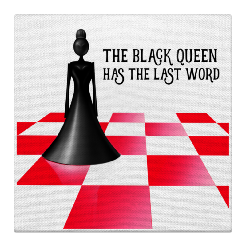 Printio Холст 30×30 Black queen