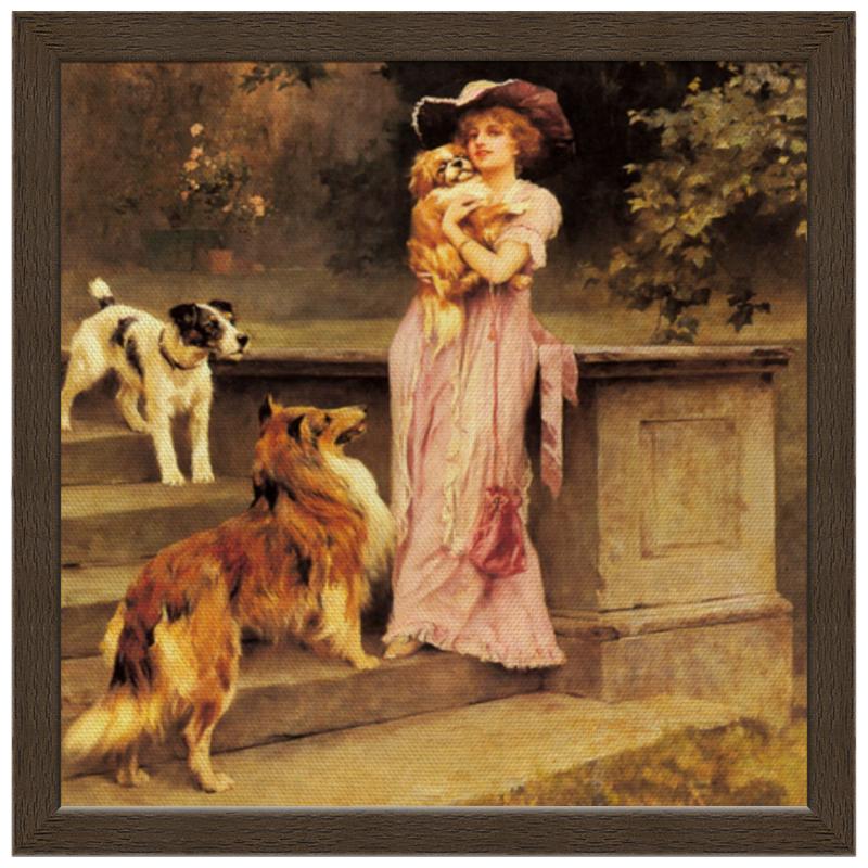 Фото - Printio Холст 30×30 Девушка с собаками printio холст 40×55 охота с собаками