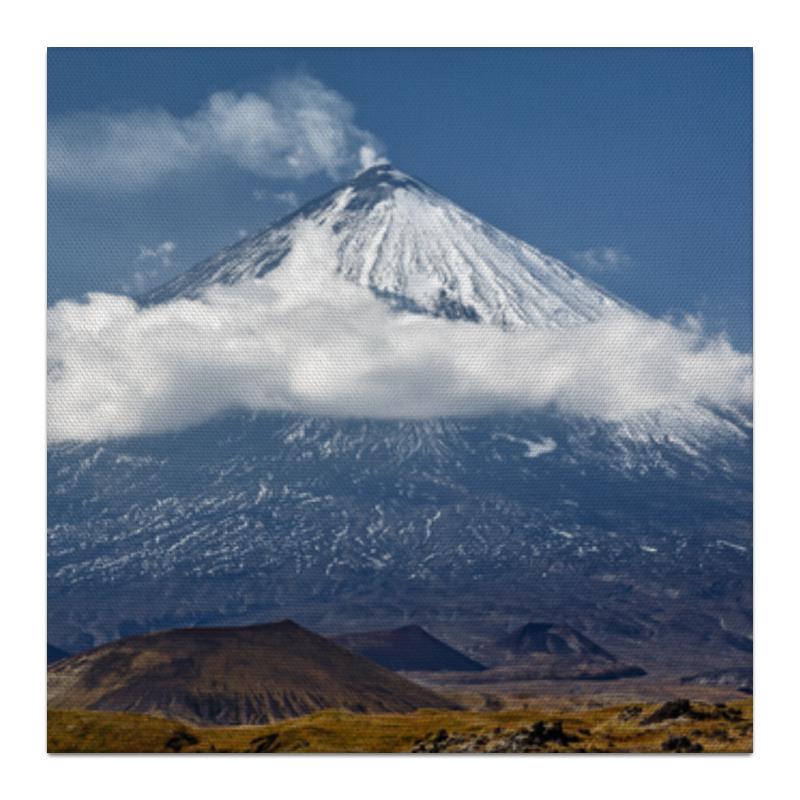 Printio Холст 30×30 Камчатка, осенний пейзаж, извержение вулкана