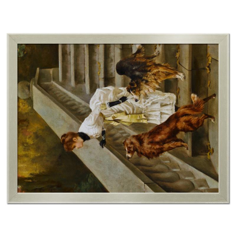 Фото - Printio Холст 30×40 Дама с собаками printio холст 40×55 охота с собаками