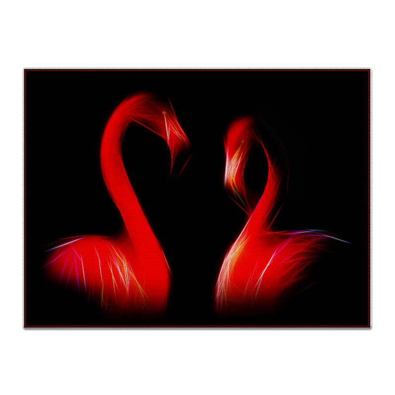 Printio Холст 30×40 Фламинго