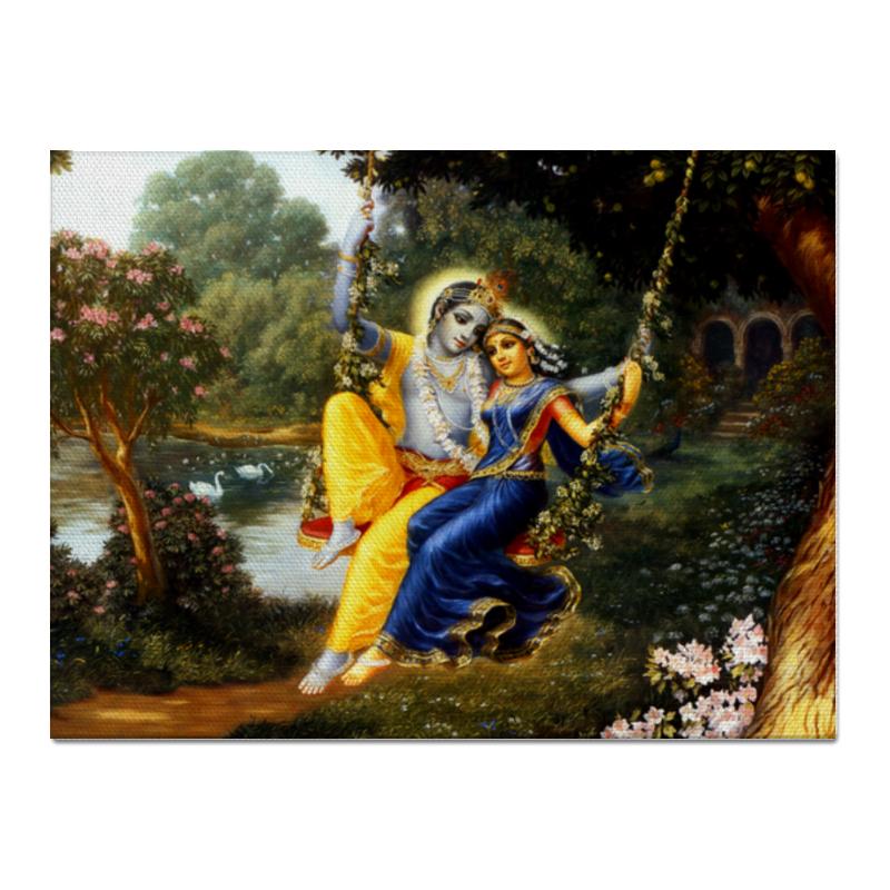 Printio Холст 30×40 Кришна и радха