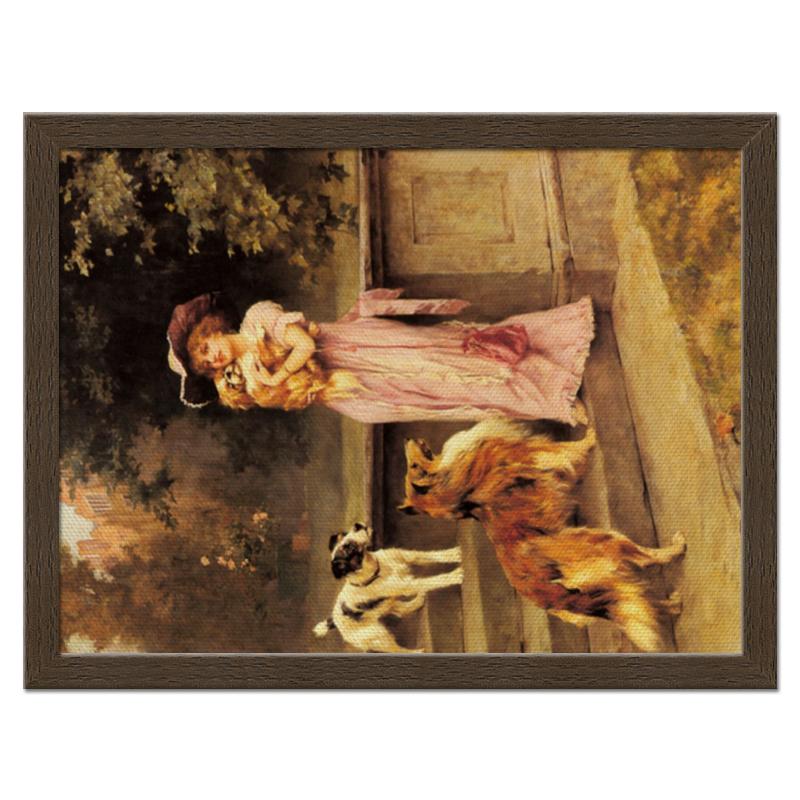 Фото - Printio Холст 30×40 Девушка с собаками printio холст 40×55 охота с собаками