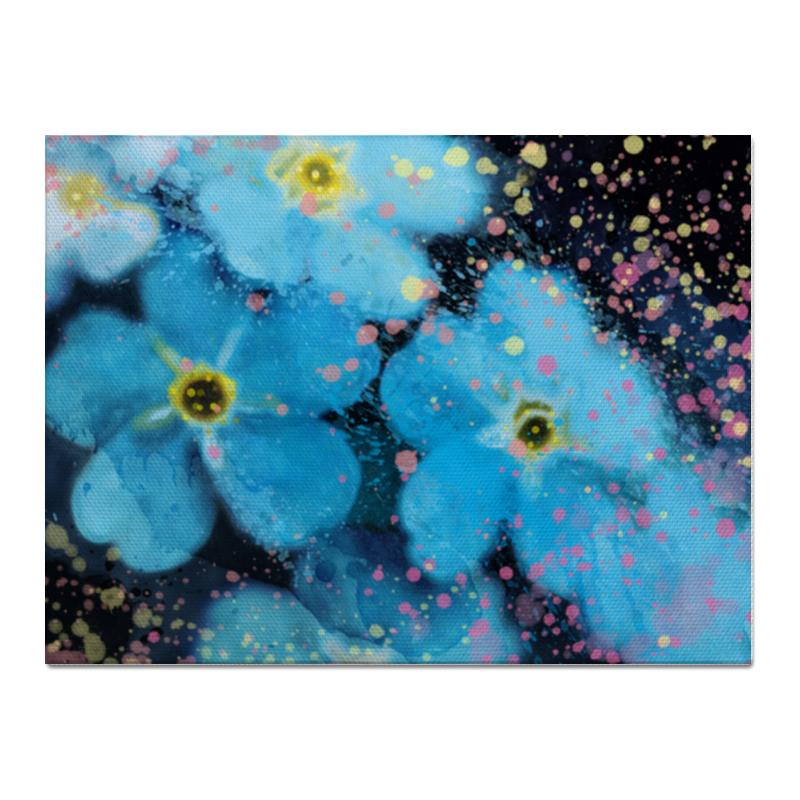 Printio Холст 30×40 Голубые цветы