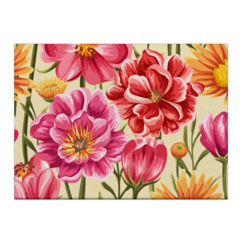 Printio Холст 40×55 Садовые цветы