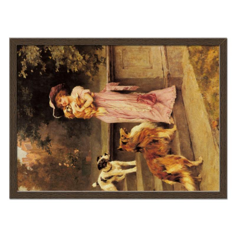 Фото - Printio Холст 40×55 Девушка с собаками printio холст 40×55 охота с собаками