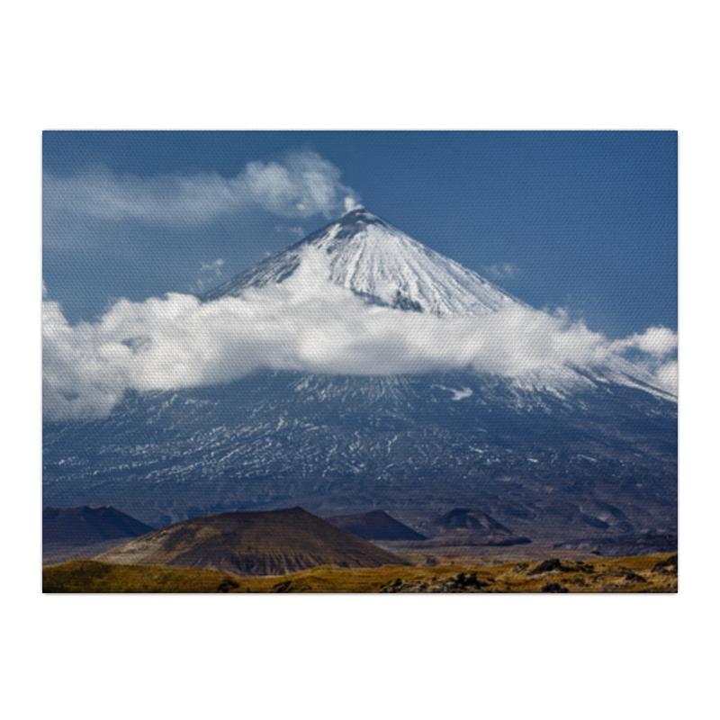Printio Холст 40×55 Камчатка, осенний пейзаж, извержение вулкана