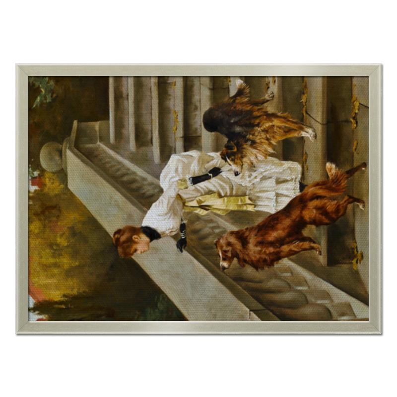 Фото - Printio Холст 40×55 Дама с собаками printio холст 40×55 охота с собаками