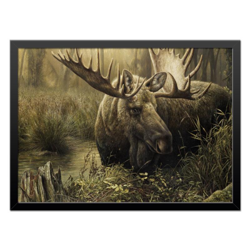 Printio Холст 40×55 Лось в лесу