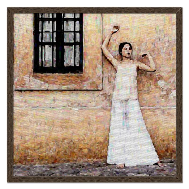 Printio Холст 50×50 Портрет девушки