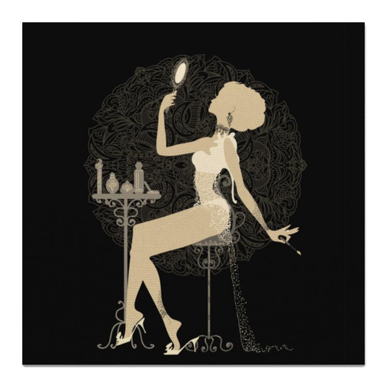 Printio Холст 50×50 Красивая девушка с зеркалом силуэт eszadesign printio холст 50×50 девушка осень