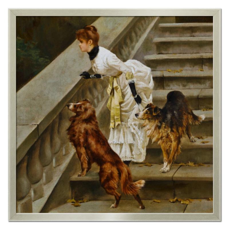 Фото - Printio Холст 50×50 Дама с собаками printio холст 40×55 охота с собаками