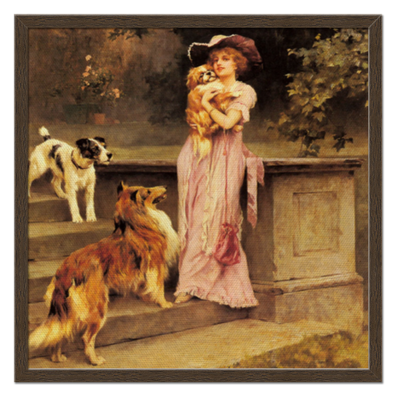 Фото - Printio Холст 50×50 Девушка с собаками printio холст 40×55 охота с собаками