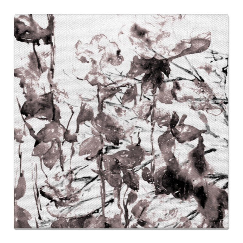 Printio Холст 50×50 Вечерние цветы