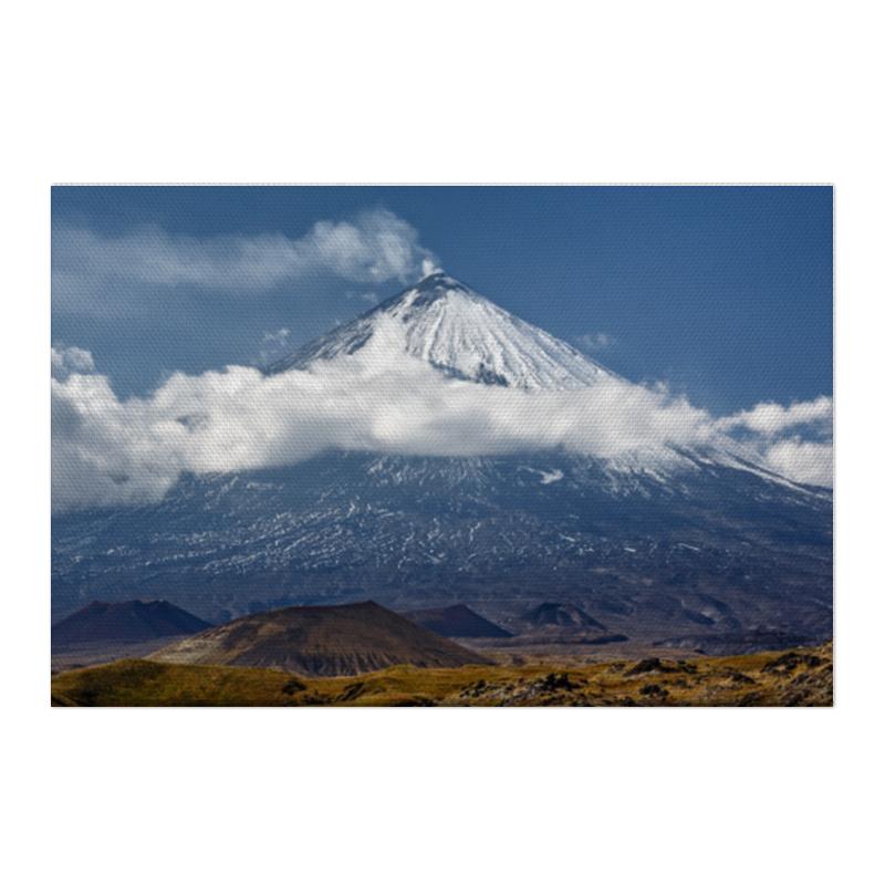 Printio Холст 50×75 Камчатка, осенний пейзаж, извержение вулкана