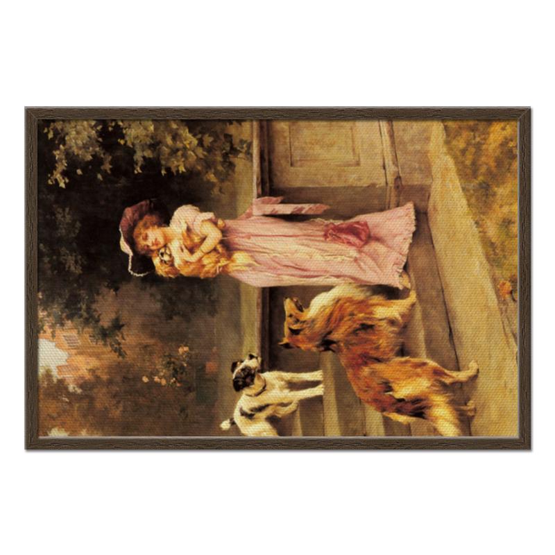 Фото - Printio Холст 50×75 Девушка с собаками printio холст 40×55 охота с собаками