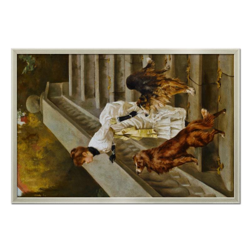 Фото - Printio Холст 50×75 Дама с собаками printio холст 40×55 охота с собаками