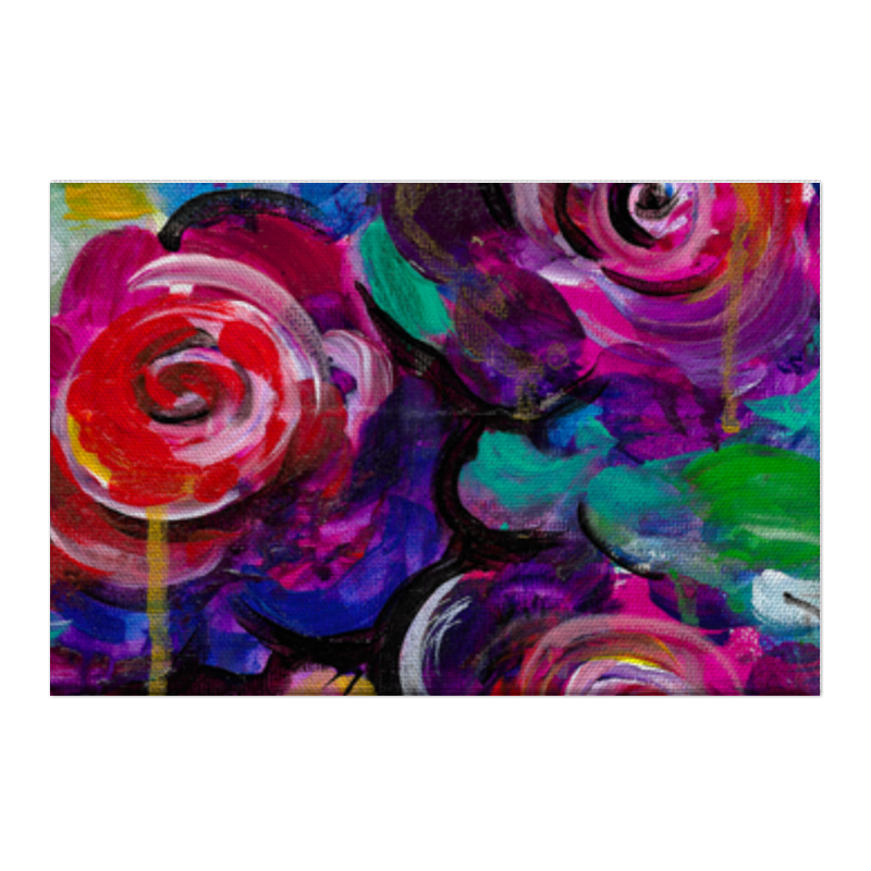 Printio Холст 50×75 Цветочная провокация