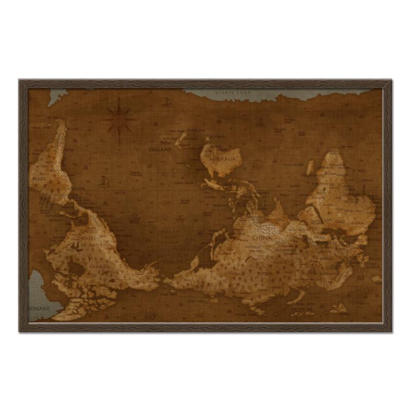 Printio Холст 50×75 Карта мира