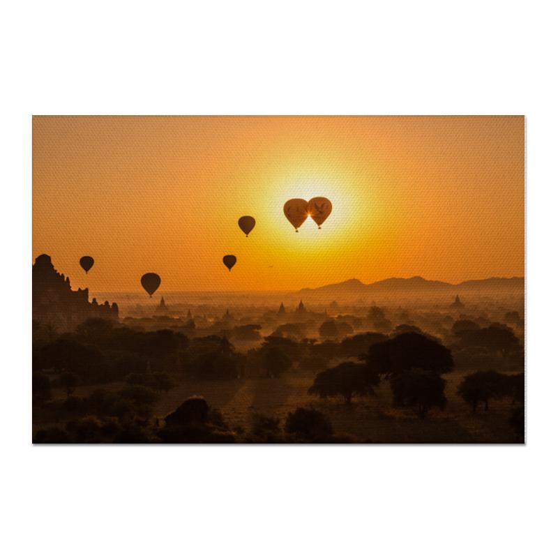 Printio Холст 60×90 Воздушные шары на рассвете