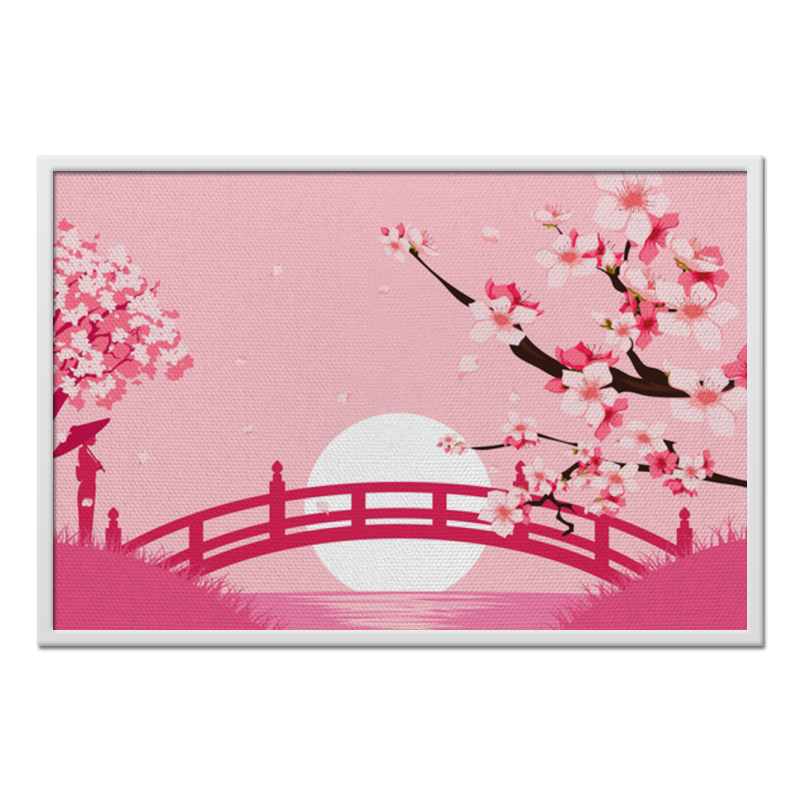 Printio Холст 60×90 Закат в японии