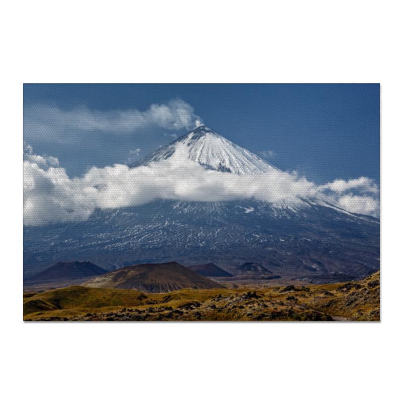 Printio Холст 60×90 Камчатка, осенний пейзаж, извержение вулкана