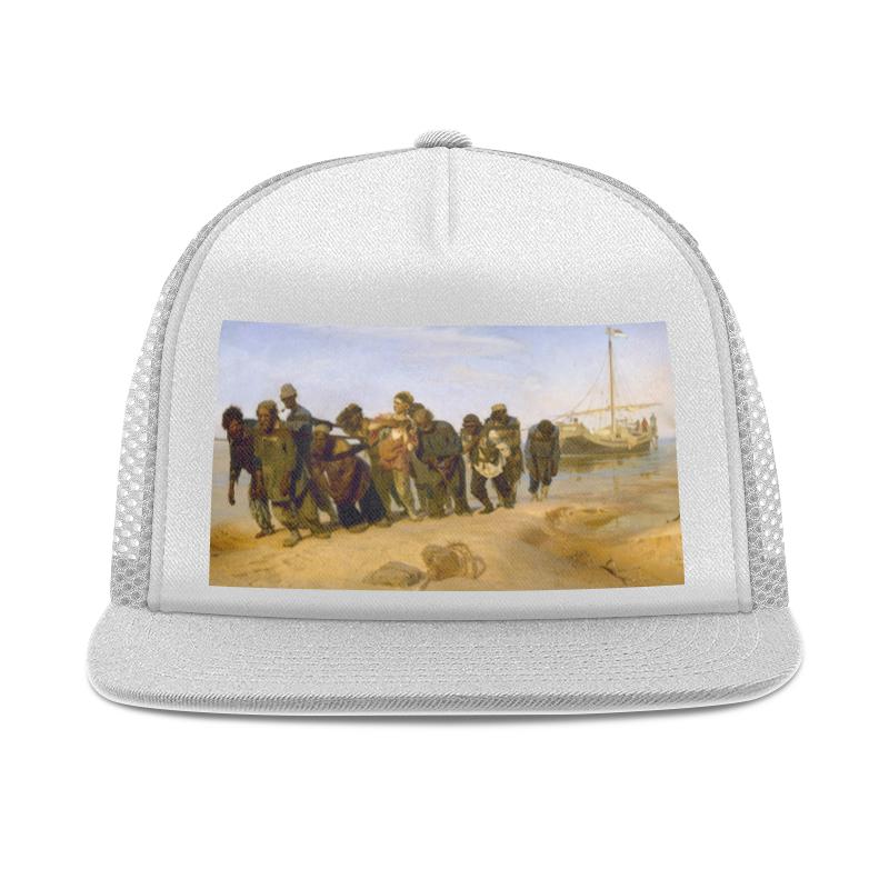 Printio Кепка тракер с сеткой Бурлаки на волге (картина ильи репина)