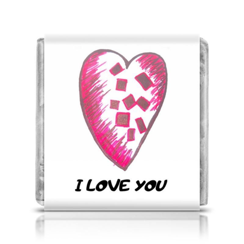 printio шоколадка 3 5×3 5 см маина радость Printio Шоколадка 3,5×3,5 см I love you