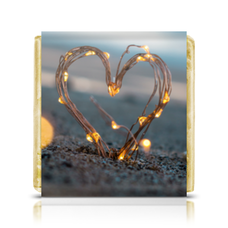 Фото - Printio Шоколадка 3,5×3,5 см Сердечко scb271028 металлическая подвеска сердечко белая ножка 9 см сердечко 5 3 см scrapberry s