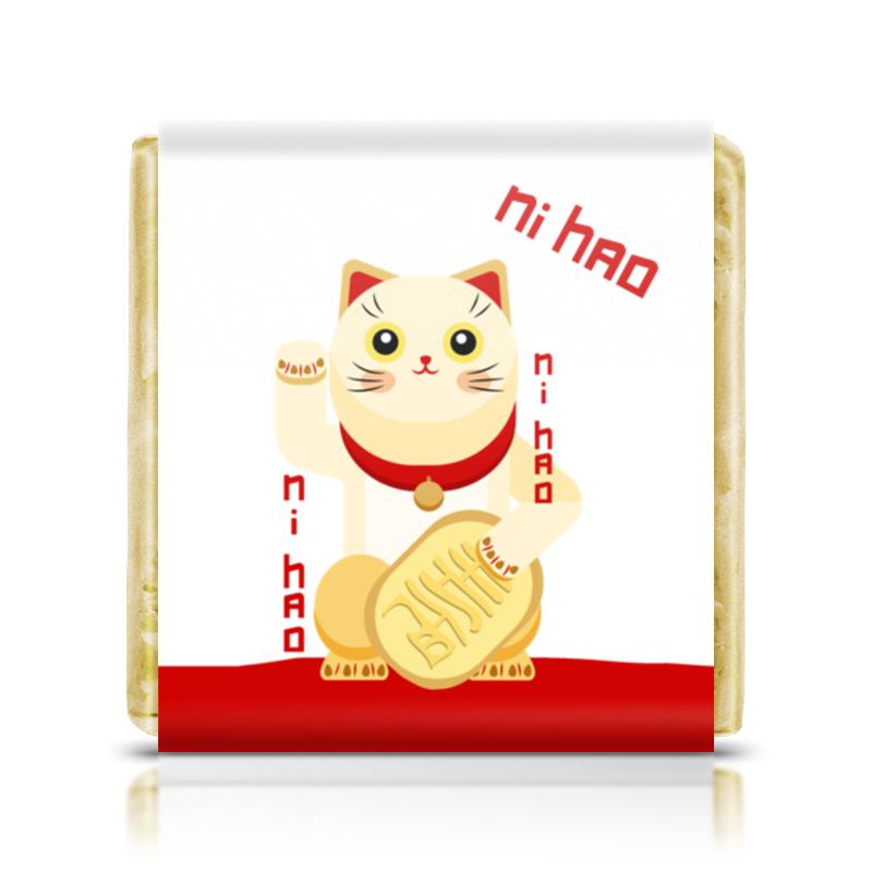 Printio Шоколадка 3,5×3,5 см Манеки неко. денежный кот