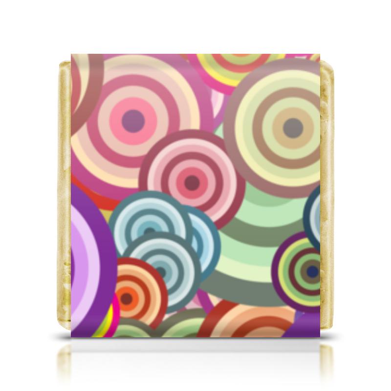 Printio Шоколадка 3,5×3,5 см Цветные круги