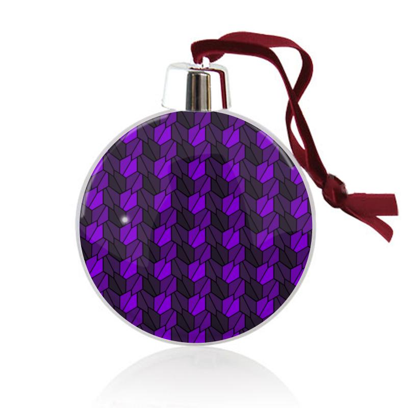 Printio Ёлочный шар Violet rumpled