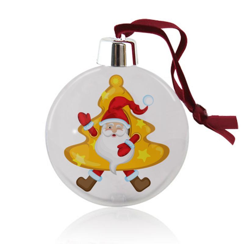 Printio Ёлочный шар Санта в костюме елки