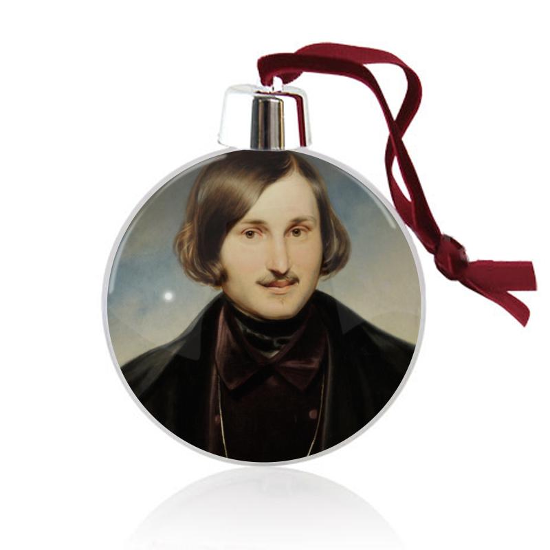 Printio Ёлочный шар Николай гоголь (портрет работы фёдора моллера)