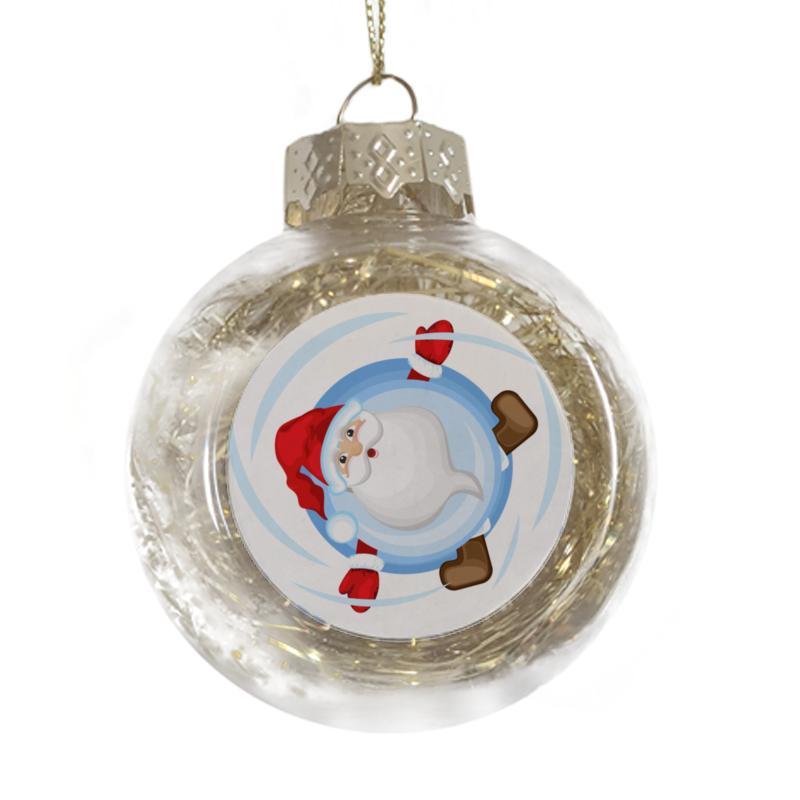 Printio Ёлочная игрушка Санта катится к нам