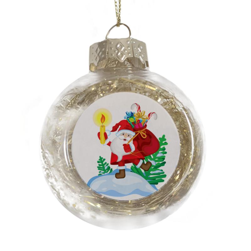 Printio Ёлочная игрушка Санта в пути игрушка