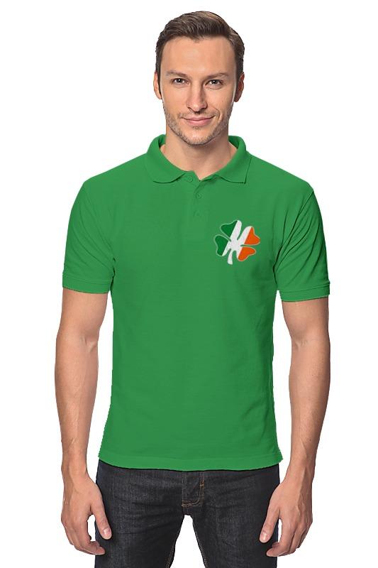 Printio Рубашка Поло Ирландский четырехлистный клевер