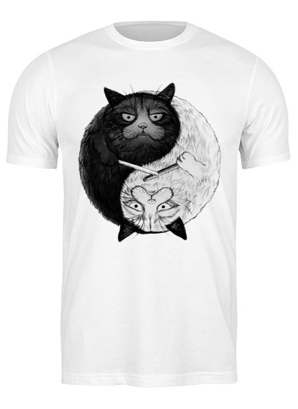 Printio Футболка классическая Угрюмый кот инь-янь