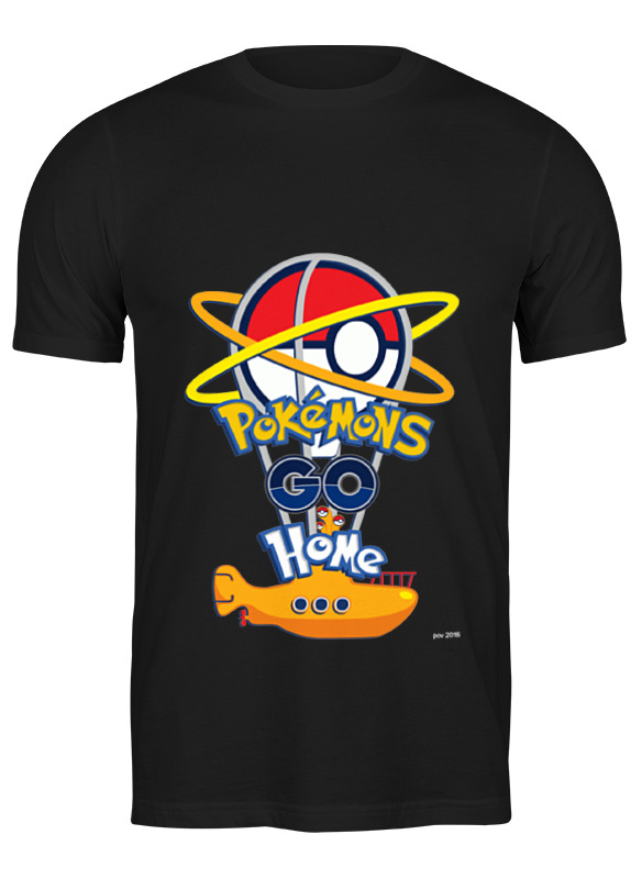 Printio Футболка классическая Pokemons go home printio лонгслив pokemons go home