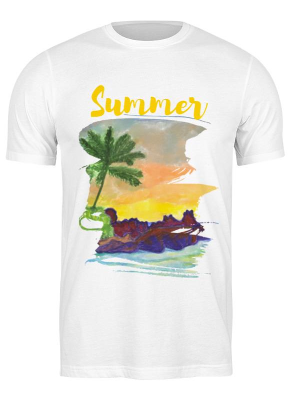 Фото - Printio Футболка классическая Summer, лето, море, облака андрей бузуев берег и море