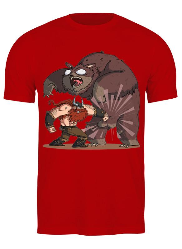 printio лонгслив викинг и медведь Printio Футболка классическая Викинг и медведь