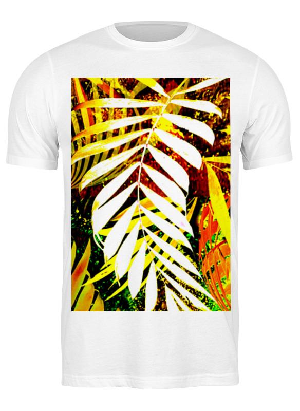 Printio Футболка классическая нautumn leaf, palm leaf, yellow red green,
