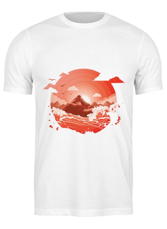 Printio Футболка классическая Красный рассвет над горами