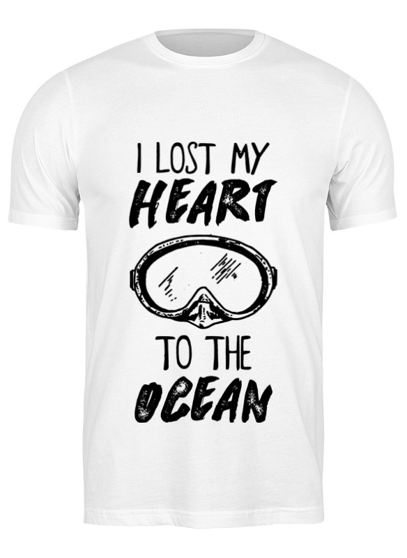 printio футболка классическая i lost my heart to the ocean Printio Футболка классическая I lost my heart to the ocean