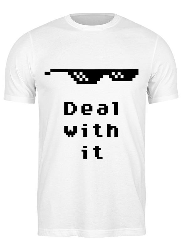 Фото - Printio Футболка классическая Пиксельные очки (deal with it) солнцезащитные очки pixel crew deal with it