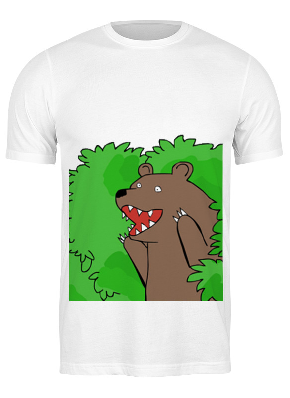 Printio Футболка классическая Медведь из кустов