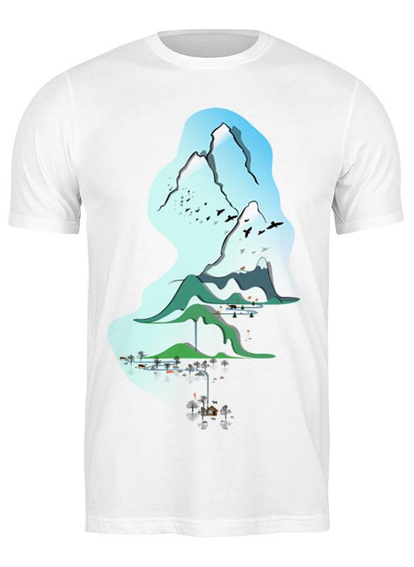 Printio Футболка классическая Горы в стиле минимализма printio футболка wearcraft premium горы в стиле минимализма