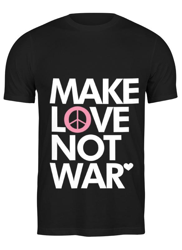 printio make tea not war Printio Футболка классическая Make love not war
