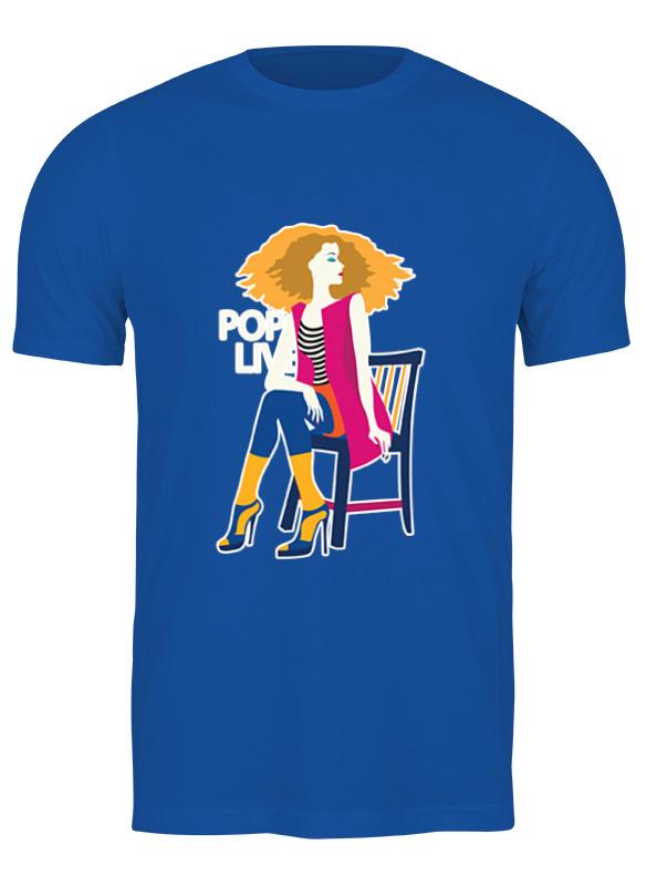 Printio Футболка классическая Поп арт дизайн. красивая девушка в полосатой майке