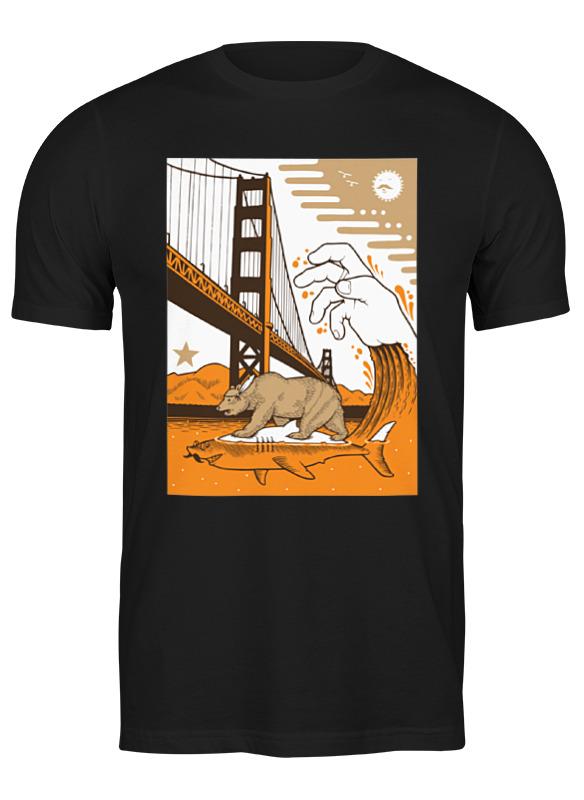 Printio Футболка классическая Bear on shark / медведь на акуле printio футболка классическая crew five cali bear